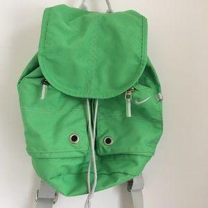 Vintage bright green Nike back pack